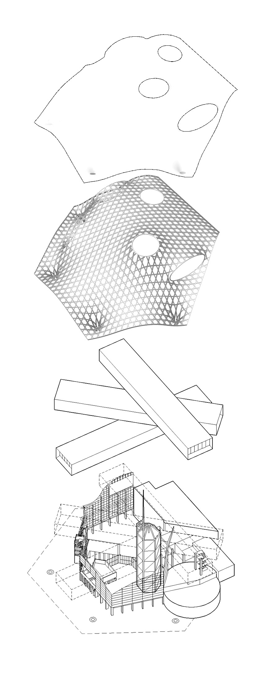 09_centro Pompidu Metz_axonometría